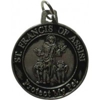 St Francis Protect My Pet Amulet