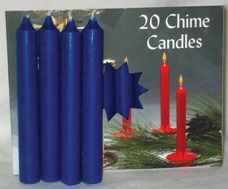 "1-2"" Dark Blue Altar Candle 20 Pack"