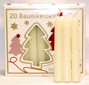 """1-2"""" Ivory Altar Candle 20 Pack"""