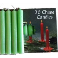 "1-2"" Apple Green Altar Candle 20 Pack"