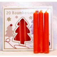 "1-2"" Orange Altar Candle 20 Pack"