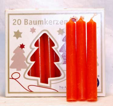 """1-2"""" Orange Altar Candle 20 Pack"""