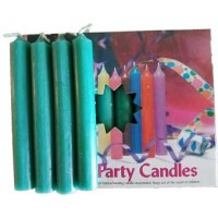 "1-2""dark Green Altar Candle 20 Pack"