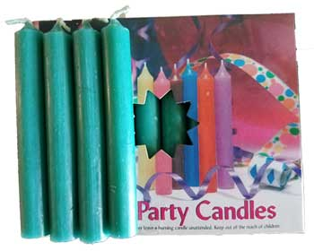 """1-2""""dark Green Altar Candle 20 Pack"""