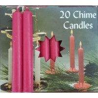 "1-2"" Pomegranate Altar Candle 20 Pack"