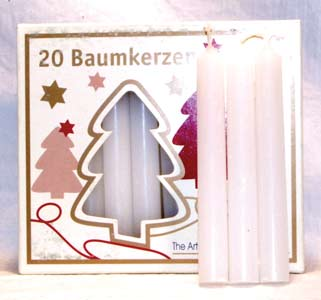 "1-2"" White Altar Candle 20 Pack"
