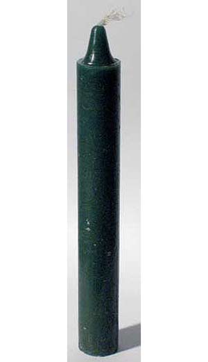 "Green 6"" Spell Candle"