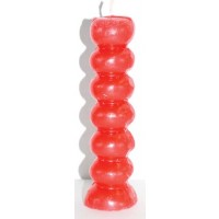 Red Seven Knob Candles