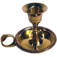 Brass Chamberstick Spell Candle Holder