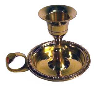 Brass Chamberstick Spell Candle Holder