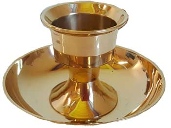 Brass Taper And Jumbo Candle Holder