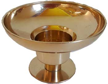 """Brass Universal Candle Holder 4 1-4"""" Dia"""