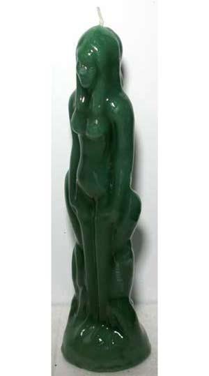 Green Female Candle
