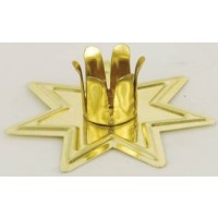 Gold-toned Fairy Star Altar Candle Holder