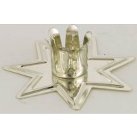 Silver Fairy Star Altar Candle Holder