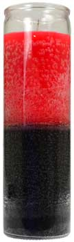 2 Color 7-day Red- Black Jar Candle