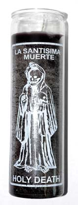Holy Death Black 7 Day Jar Candle