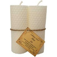"4 1-4"" Altar Set White Lailokens Awen Candle"