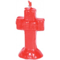 "4 1-4"" Red Cross Candle"