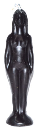 "7 1-4"" Black Woman Candle"