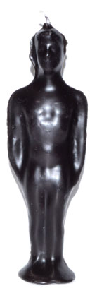 "7 1-4"" Black Male Candle"