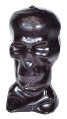 "4 3-4"" Black Skull Candle"