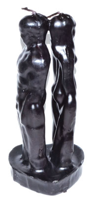 "6 1-2"" Black Separation Candle"