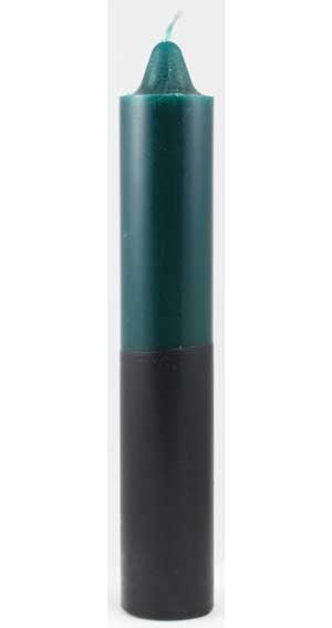 "9"" Green- Black Jumbo Candle"