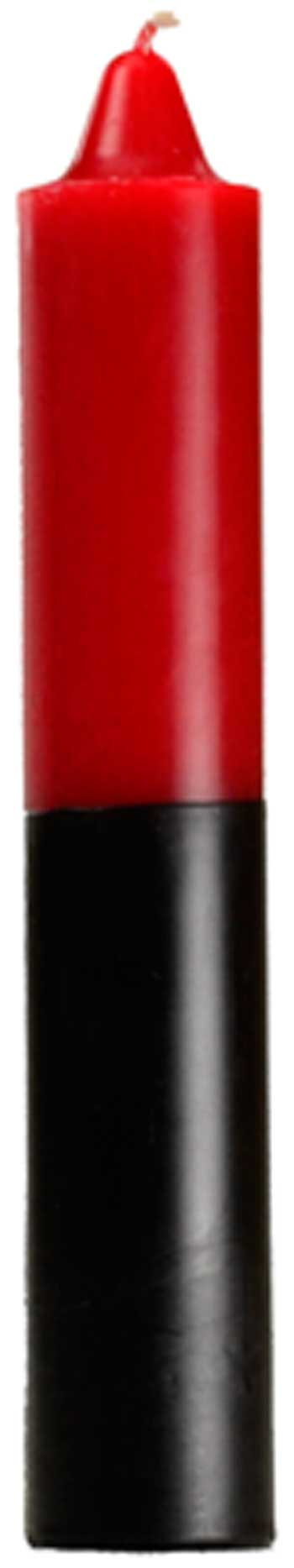 "9"" Red- Black Jumbo Candle"