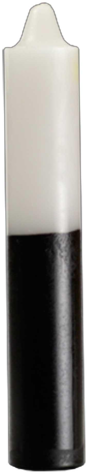 """9"""" White- Black Jumbo Candle"""