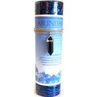 Abundance Jumbo Candle With Blue Sandstone Pendant