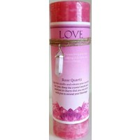 Love Jumbo Candle With Rose Quartz Pendant