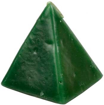 """Green Cherry Pyramid Candle 2 1-2"""""""