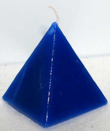 Blue Pyramid Jasmine Candle