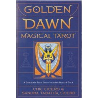 Golden Dawn Magical Tarot (deck And Book) By Cicero & Cicero