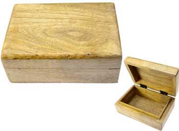 """Natural Wood Box 4"""" X 6"""""""