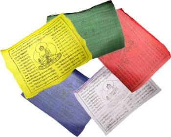 "Tibetan Buddha Prayer Flag 8"" X 9 1-2"""