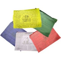 "Tibetan Green Tara Prayer Flag 9"" X 9 1-2"""