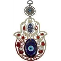 "Fatima Flower Evil Eye Wall Hanging ""new Design"""