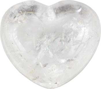 """1 3-4"""" Clear Quartz Heart"""