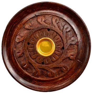 """3 3-4"""" Wood Carved Stick- Cone Burner"""