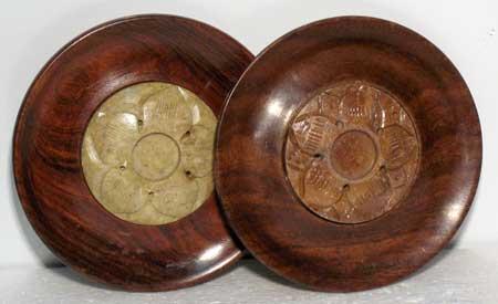 Wood And Soapstone Incense Burner