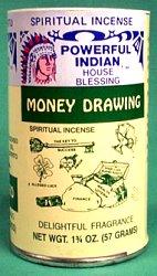 Money Drawing Powder Incense 1 3-4 Oz