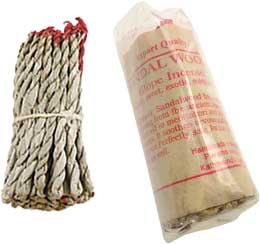 Sanda L Wood Tibetan Rope Incense 45 Ropes