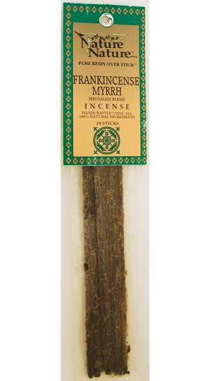 Frankincense-myrrh Jerusalem Blend Nature Nature Stick 10 Pack