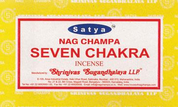 Seven Chakra Satya Incense Stick 15 Gm