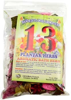 1 1-4oz 13 Herbs Aromatic Bath Herb