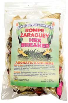 1 1-4oz Hex Breaker (rompe Zaraguey) Aromatic Bath Herb