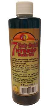 8oz 7 Holy Spirit Hyssop Bath Oil