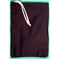 "Black Cotton Bag 3"" X 4"""